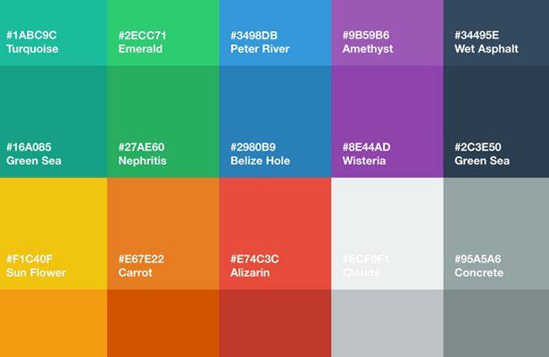 طراحی فلت و رنگ های فلت درطراحی سایت